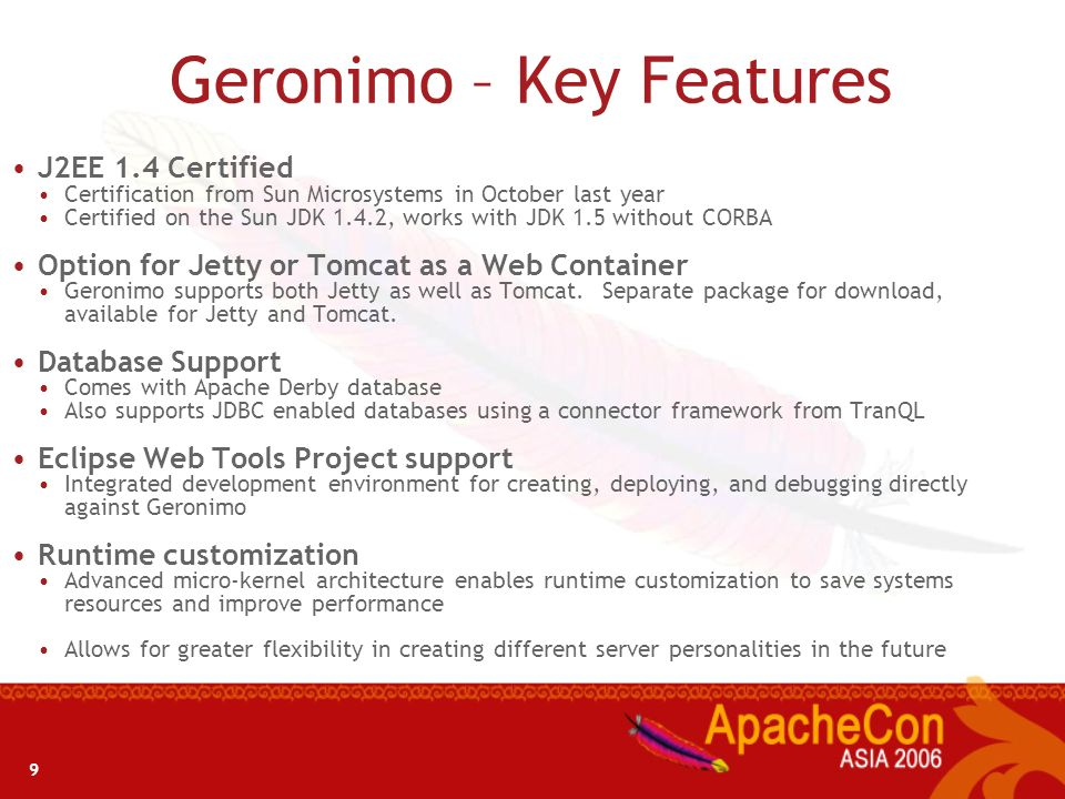 Geronimo – Key Features