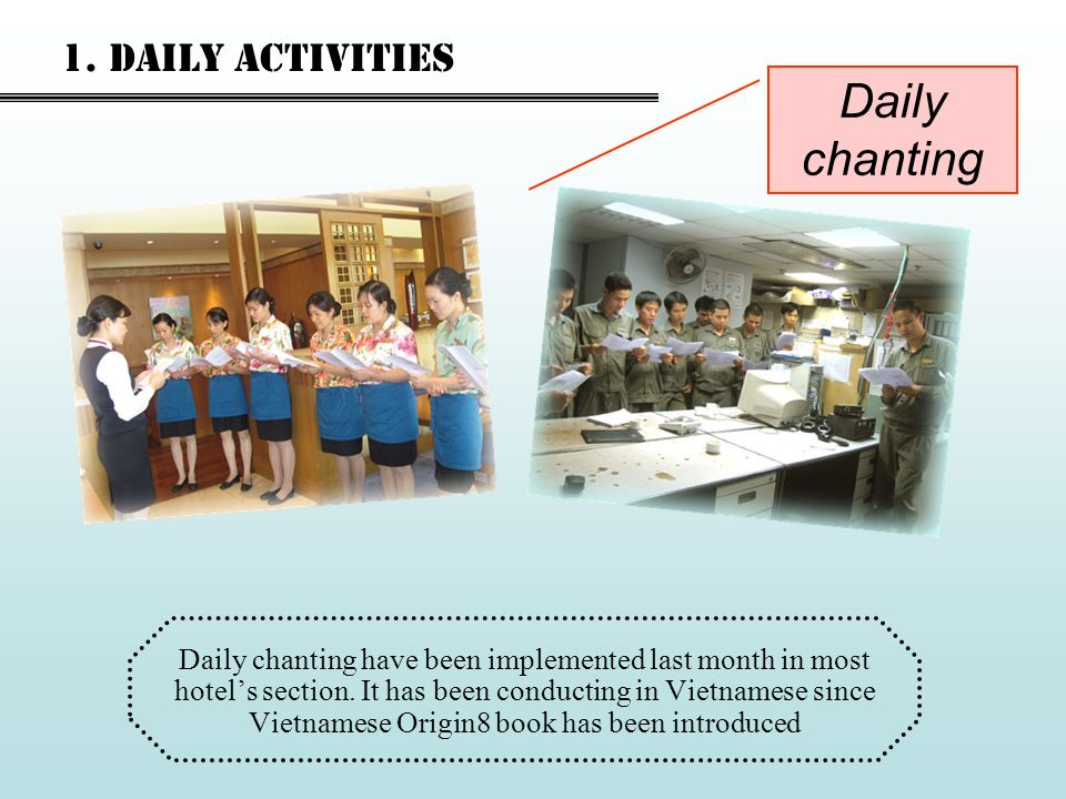 Daily chanting 1. Daily activities