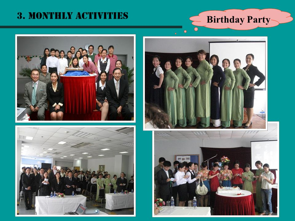 3. Monthly activities Birthday Party