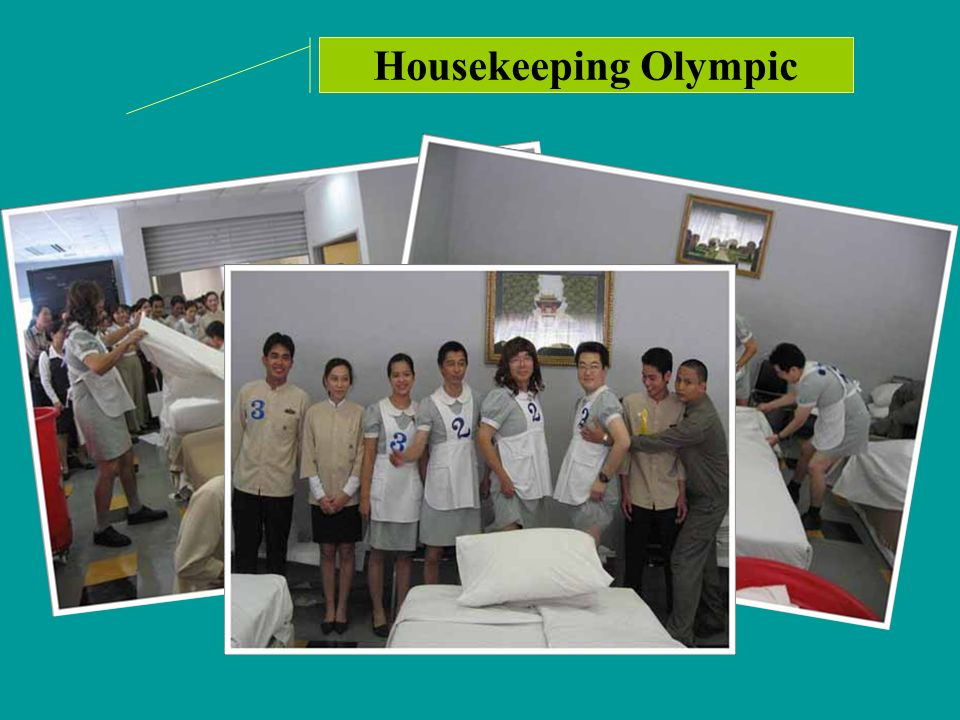 Housekeeping Olympic With a purpose of having funs at work, Housekeeping Olympic was organized.