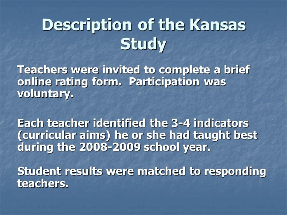 Description of the Kansas Study
