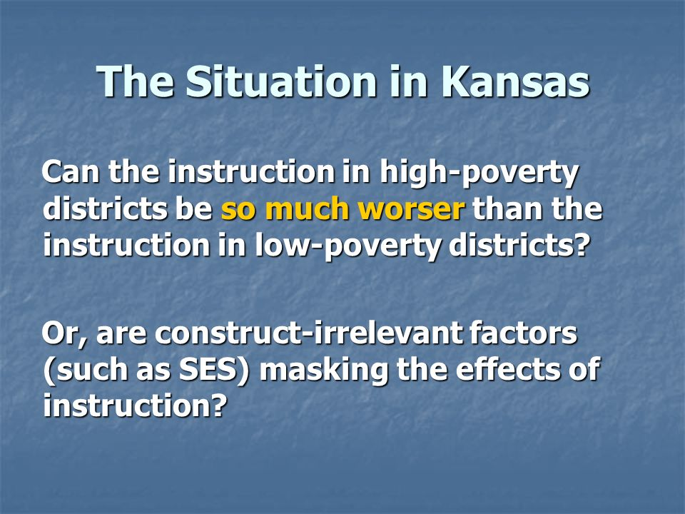The Situation in Kansas
