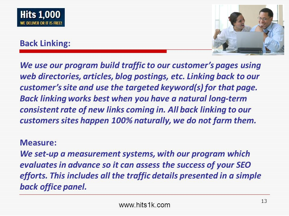 www.hits1k.com Back Linking: