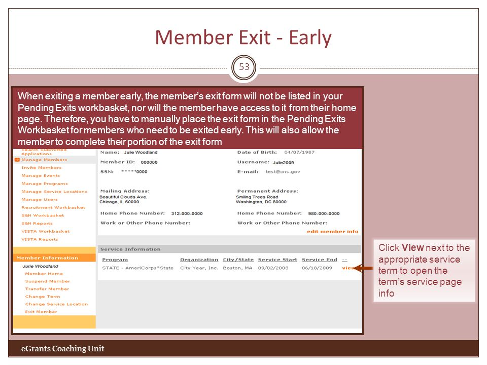 Member Exit - Early 53.