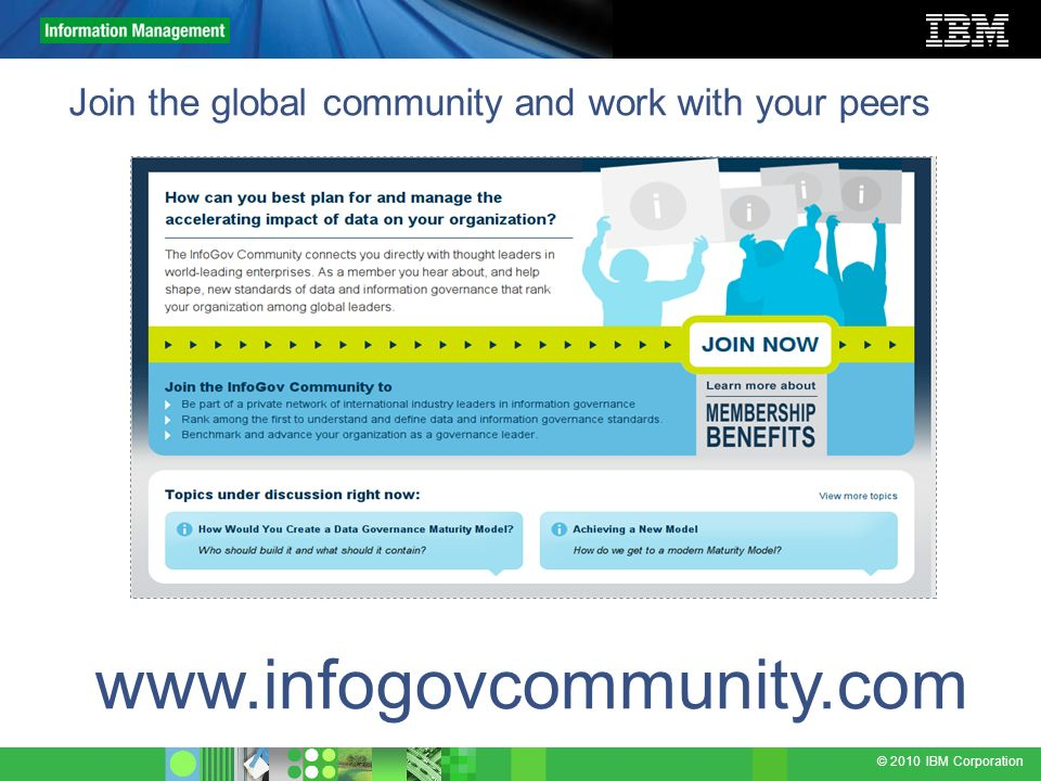 Join the global community and work with your peers