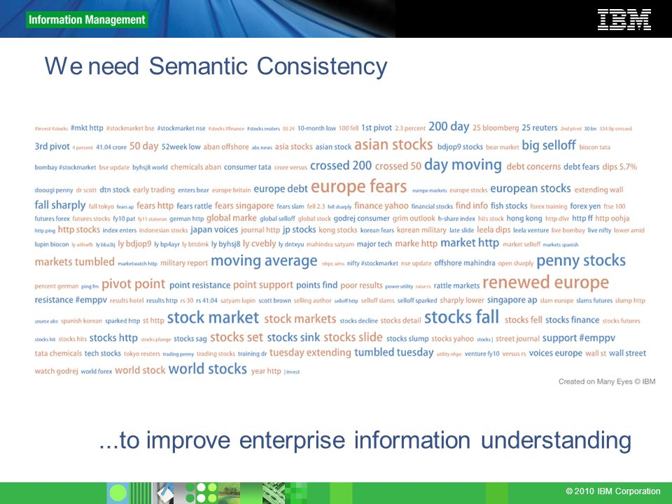 We need Semantic Consistency