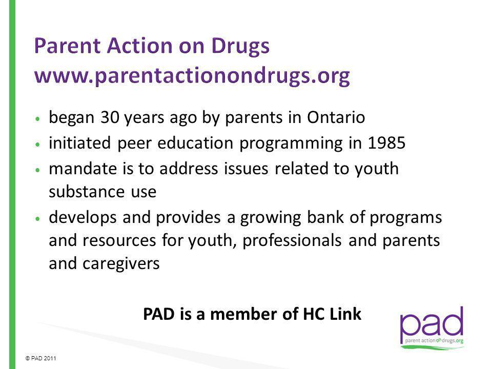 Parent Action on Drugs www.parentactionondrugs.org