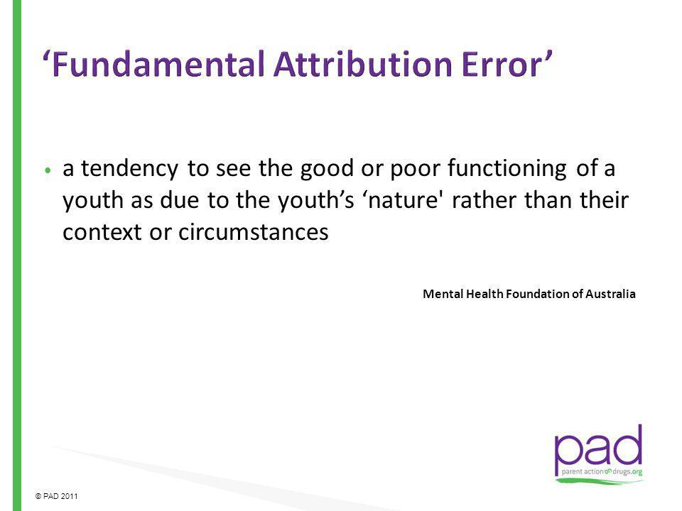 'Fundamental Attribution Error'
