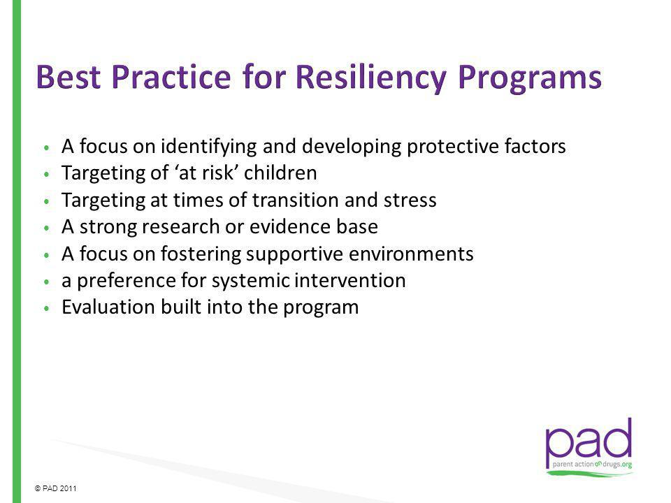 Best Practice for Resiliency Programs