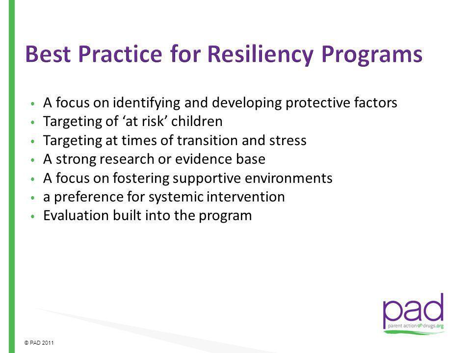 Best Practice for Resiliency Programs