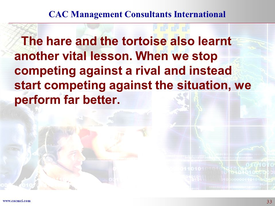 The hare and the tortoise also learnt another vital lesson