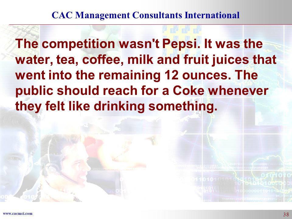 The competition wasn t Pepsi