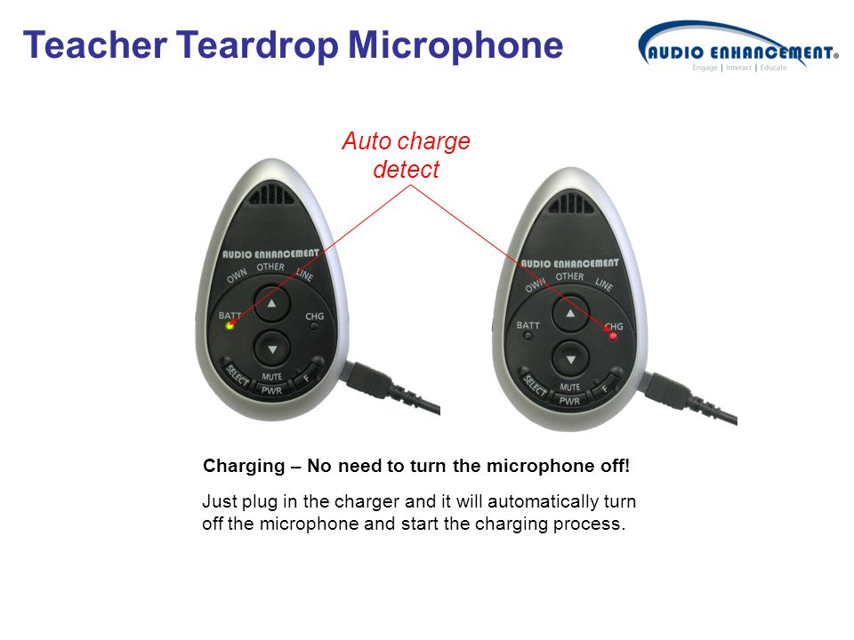 Charging – No need to turn the microphone off!