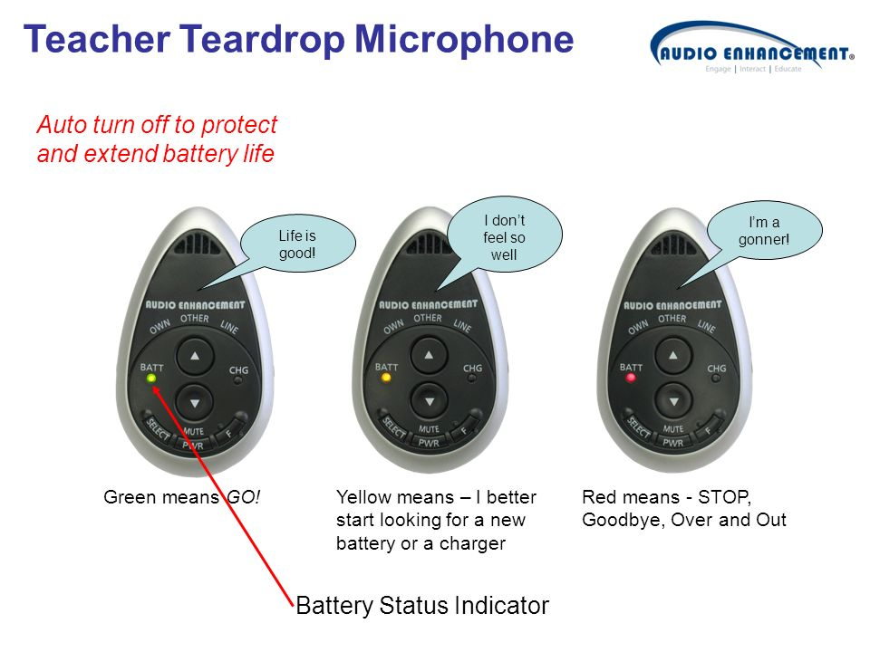 Teacher Teardrop Microphone