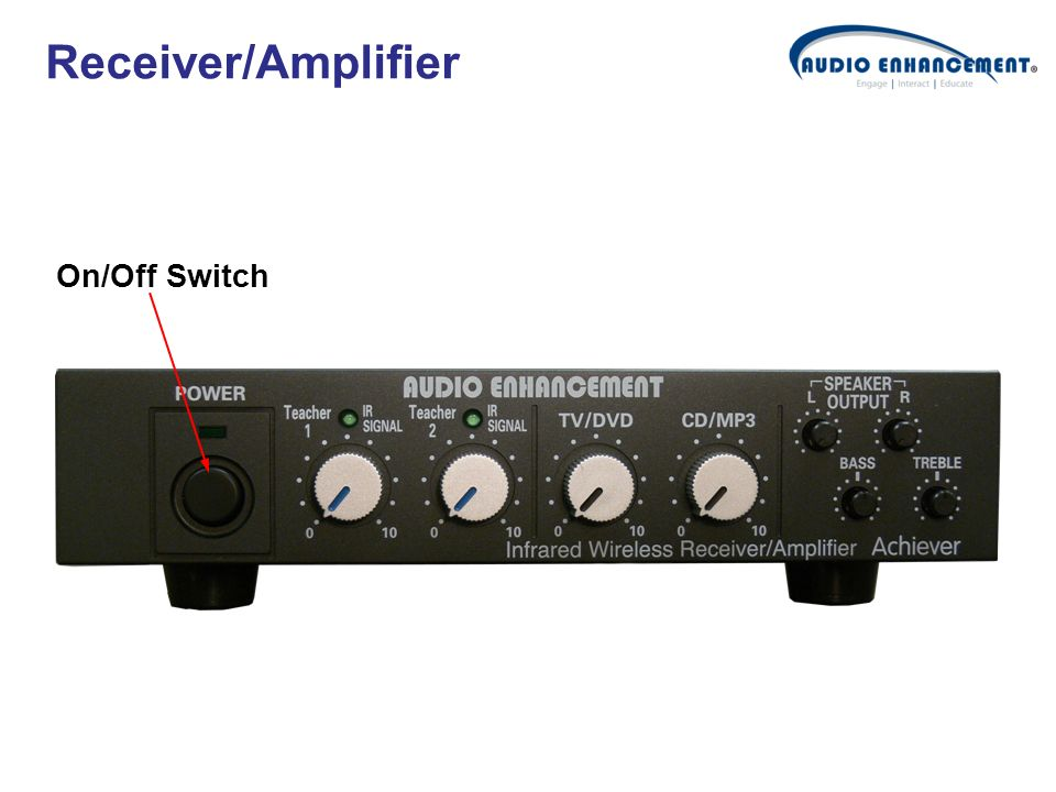 Receiver/Amplifier On/Off Switch