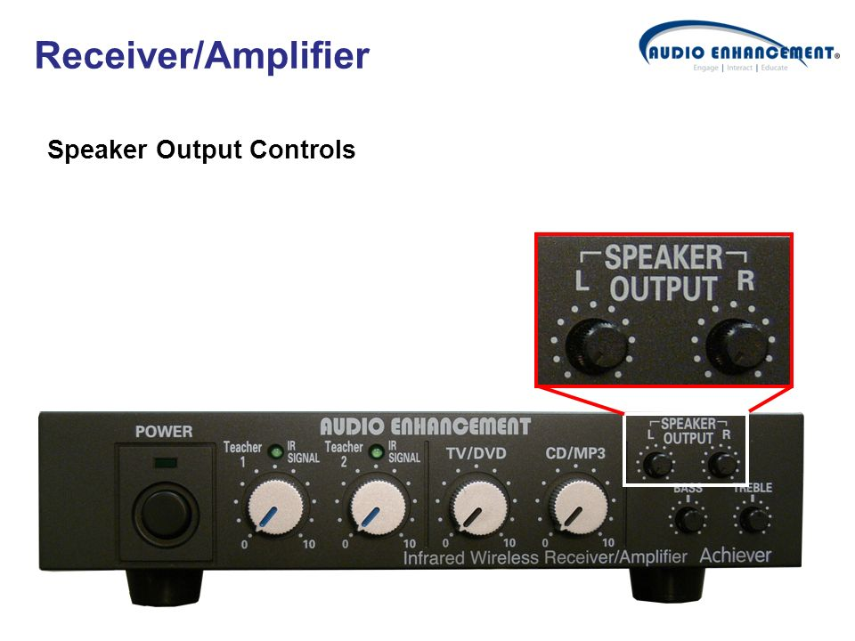 Receiver/Amplifier Speaker Output Controls
