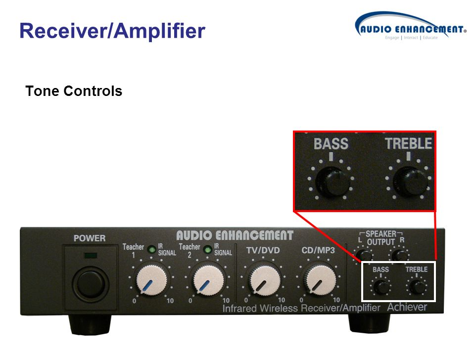 Receiver/Amplifier Tone Controls