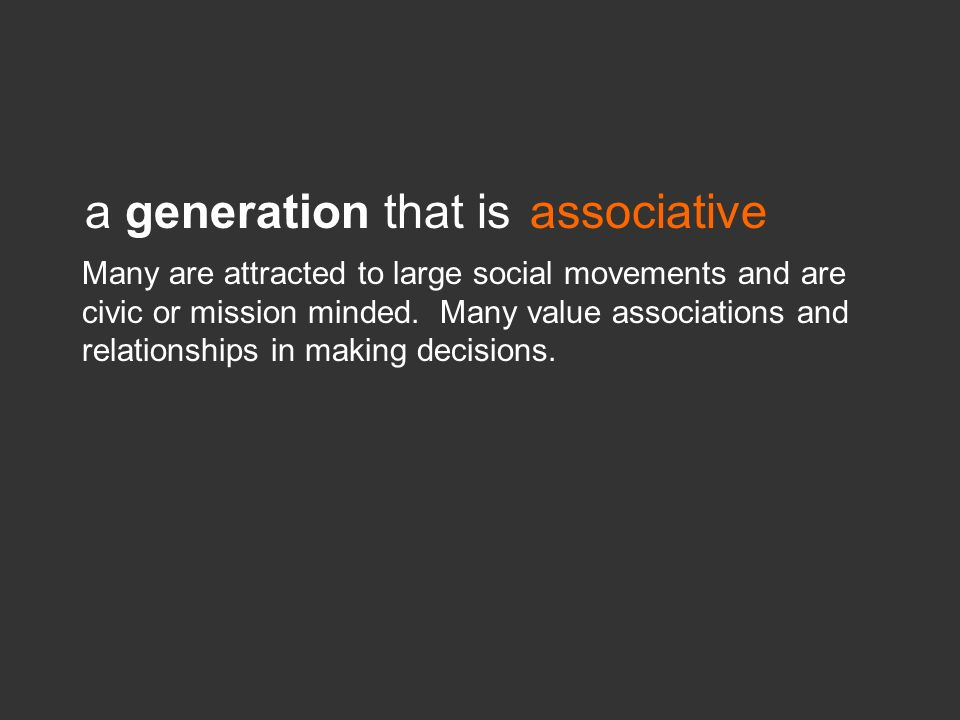 a generation that is associative