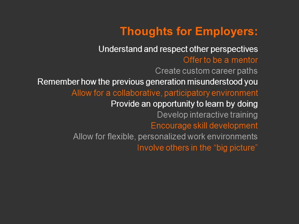 Thoughts for Employers: