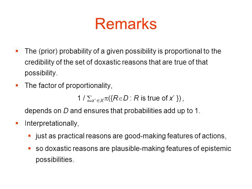1 / x' X p({RD : R is true of x' }) ,