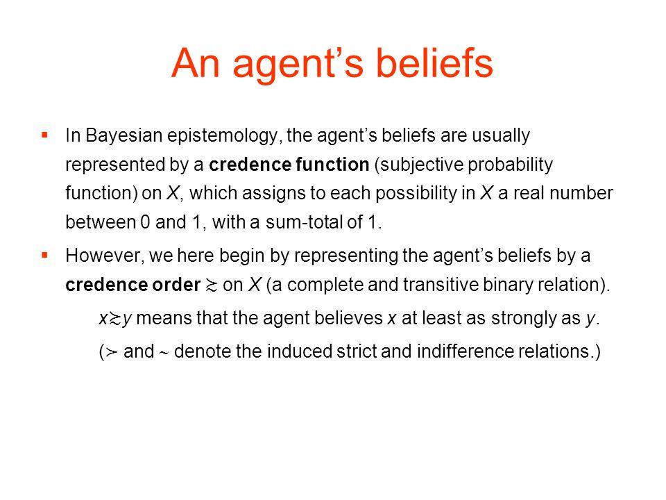 An agent's beliefs