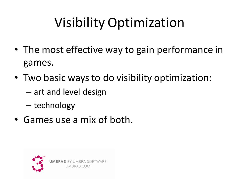 Visibility Optimization