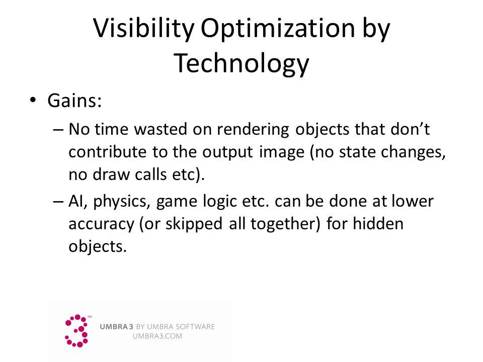 Visibility Optimization by Technology