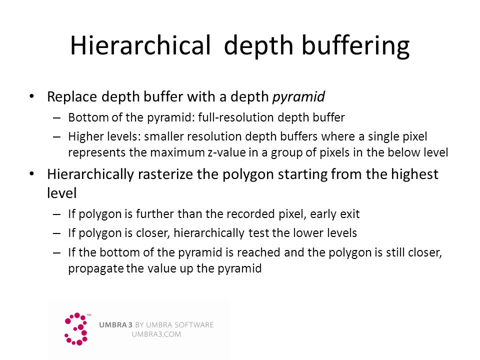 Hierarchical depth buffering