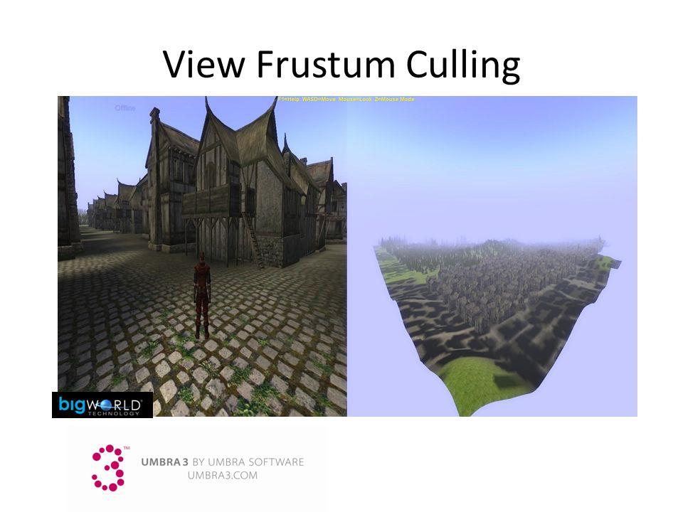View Frustum Culling 3/25/2017 9:14 AM