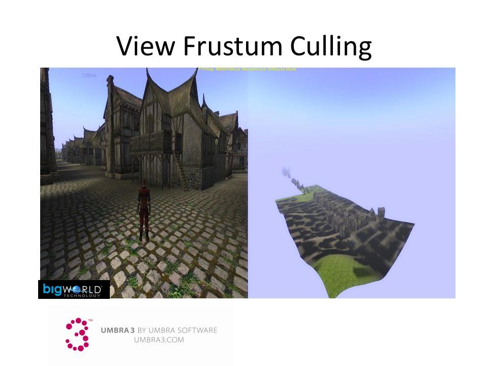 3/25/2017 9:14 AM View Frustum Culling