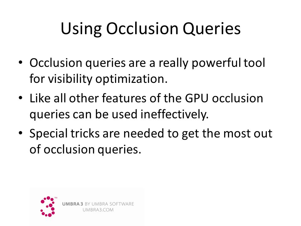 Using Occlusion Queries