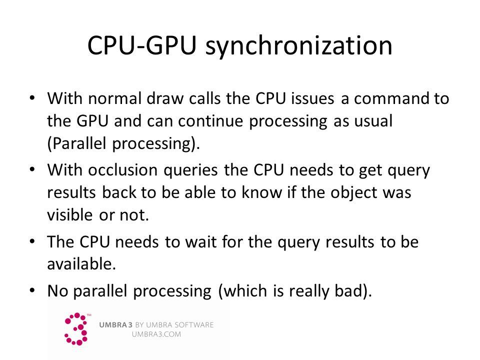 CPU-GPU synchronization