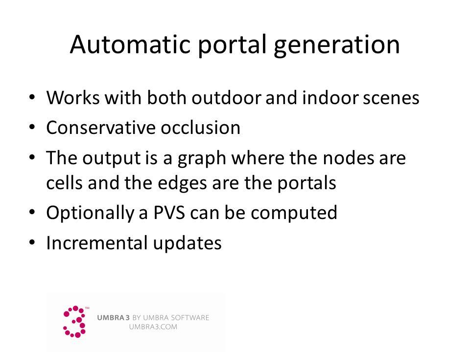 Automatic portal generation