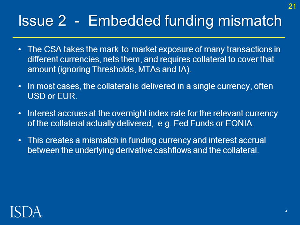 Issue 2 - Embedded funding mismatch