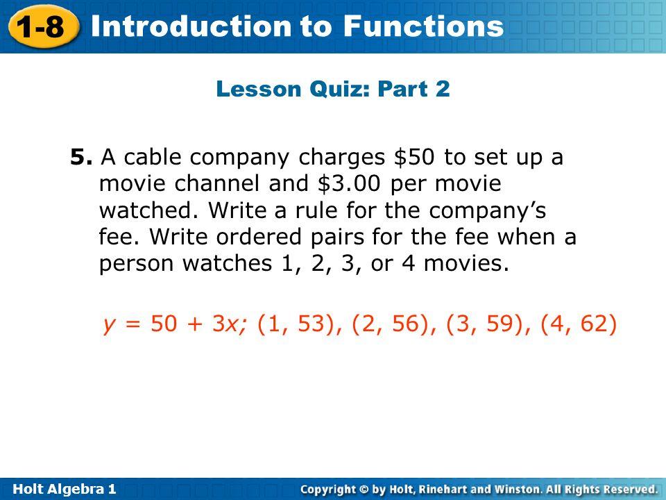 Lesson Quiz: Part 2