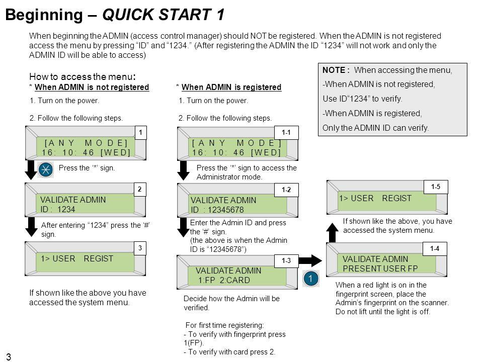 Beginning – QUICK START 1