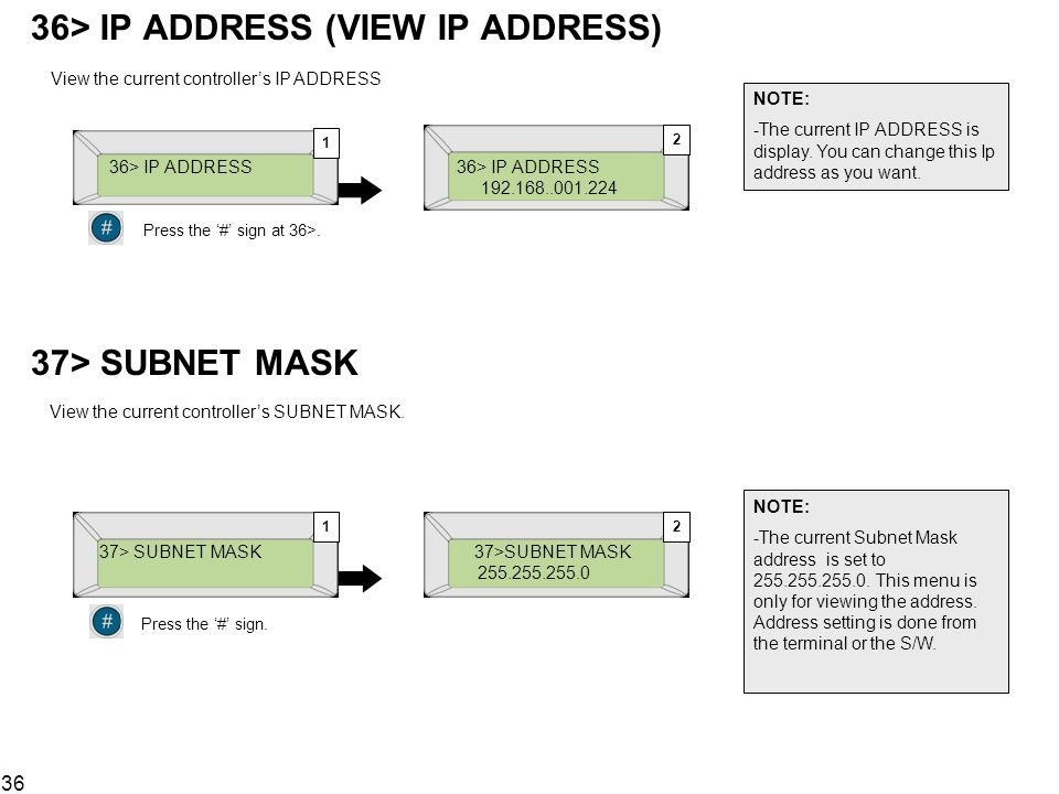 36> IP ADDRESS (VIEW IP ADDRESS)