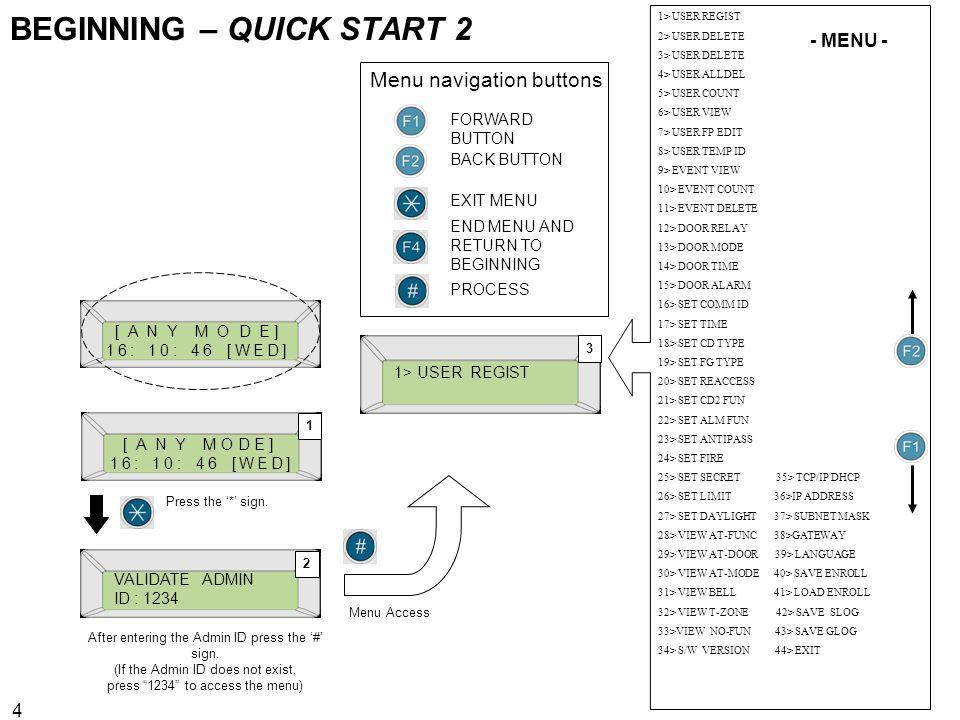 BEGINNING – QUICK START 2