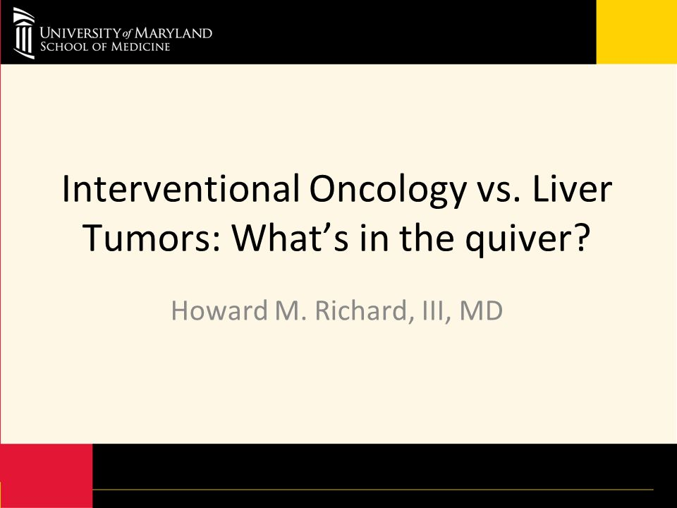 Interventional Oncology vs. Liver Tumors: What's in the quiver