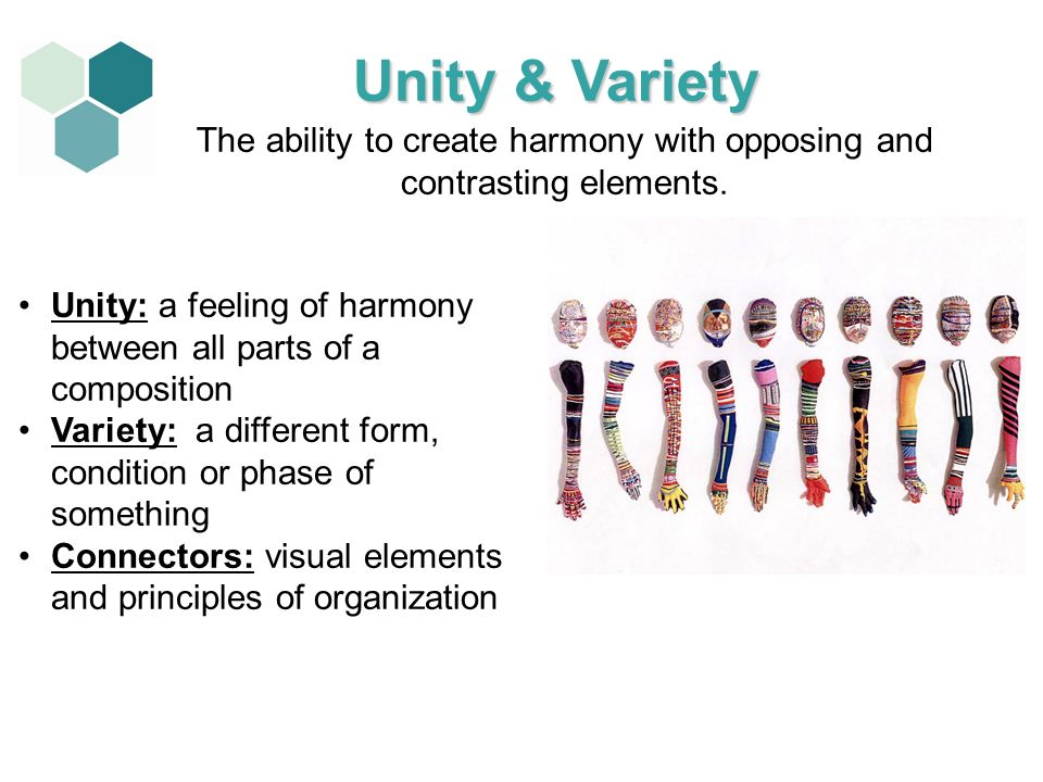 The ability to create harmony with opposing and contrasting elements.