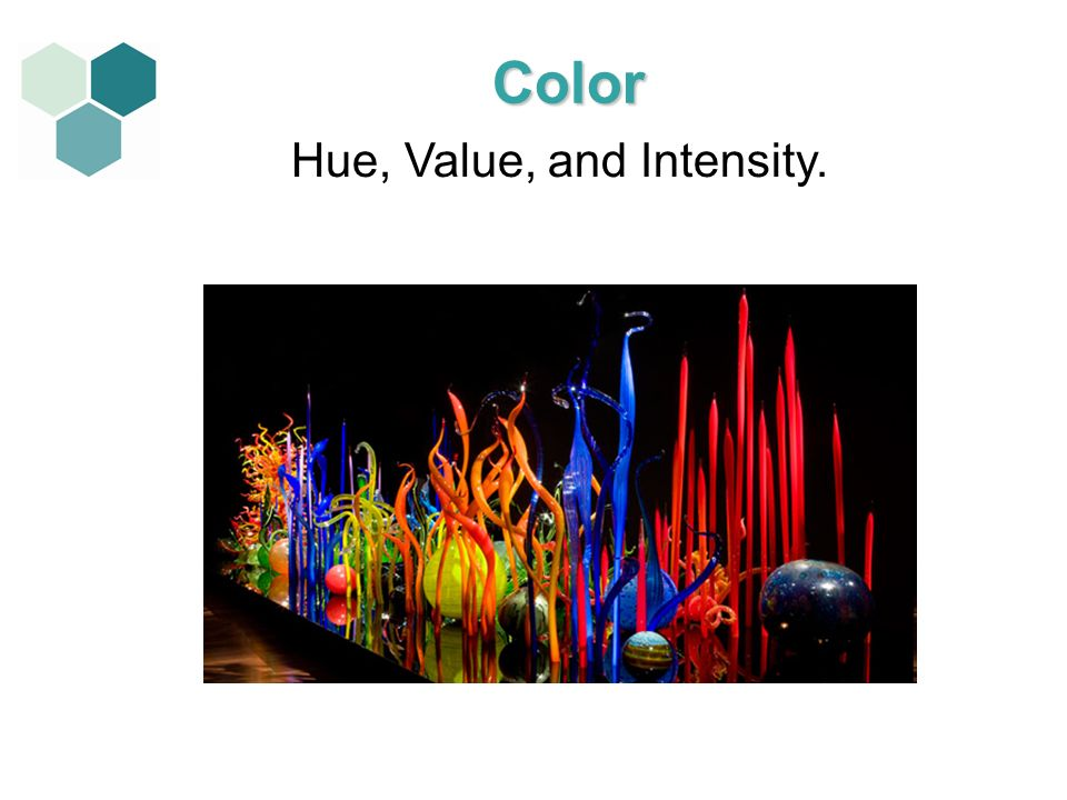 Hue, Value, and Intensity.