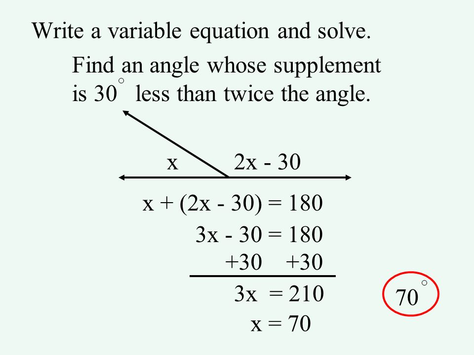 Write a variable equation and solve.