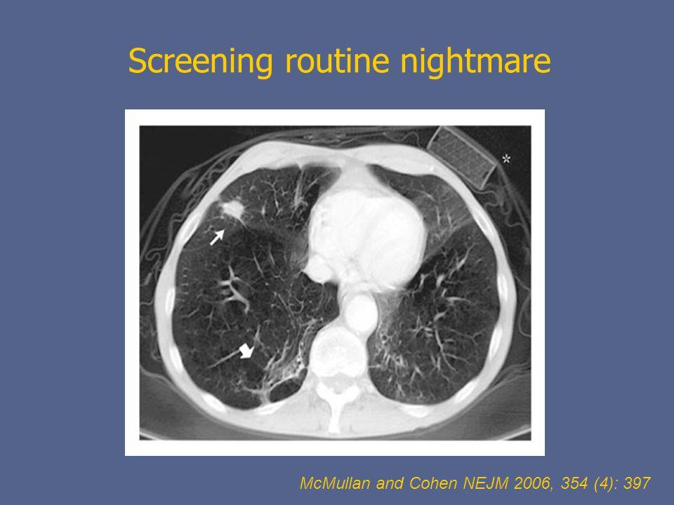 Screening routine nightmare