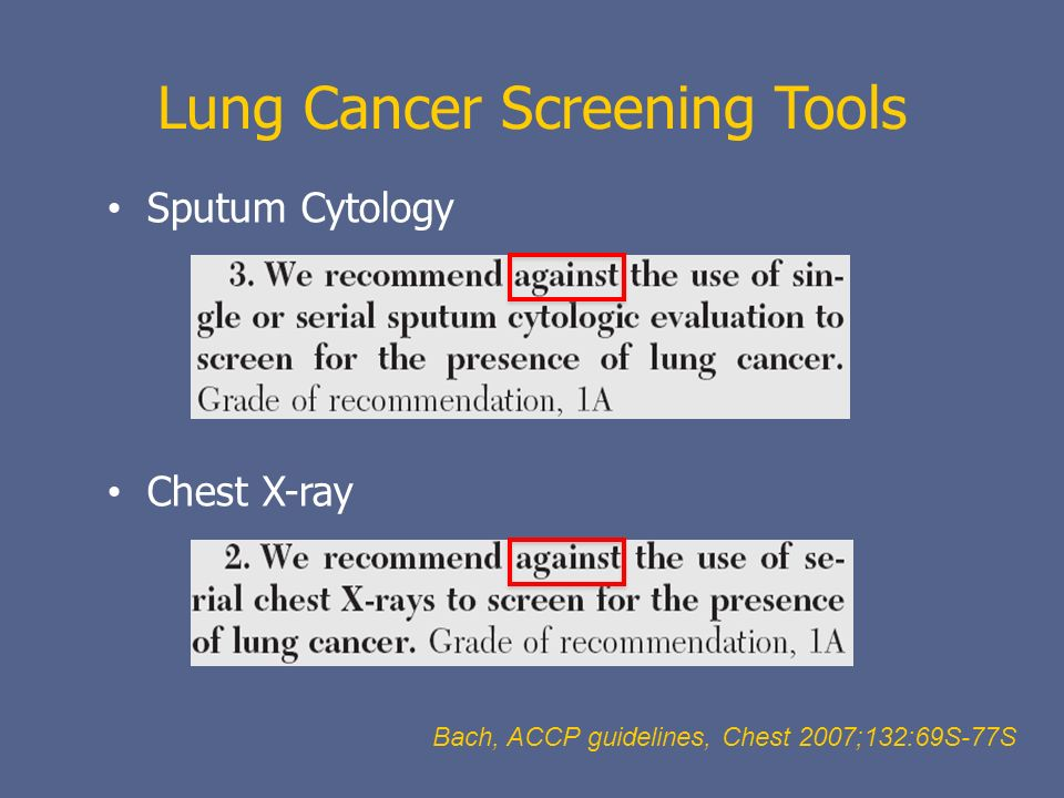 Lung Cancer Screening Tools