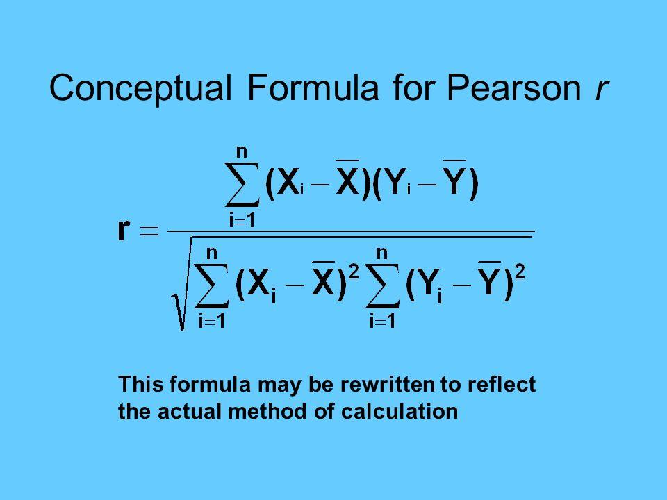 Conceptual Formula for Pearson r