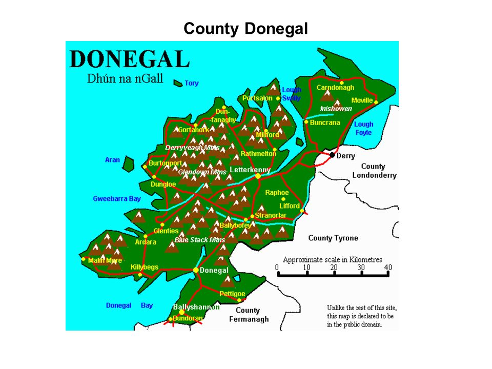 County Donegal Inishown where the Doherty clan later moved