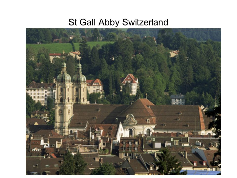 St Gall Abby Switzerland