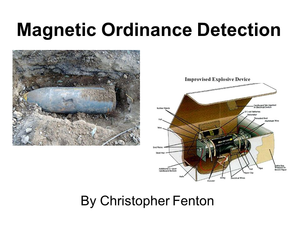 Magnetic Ordinance Detection