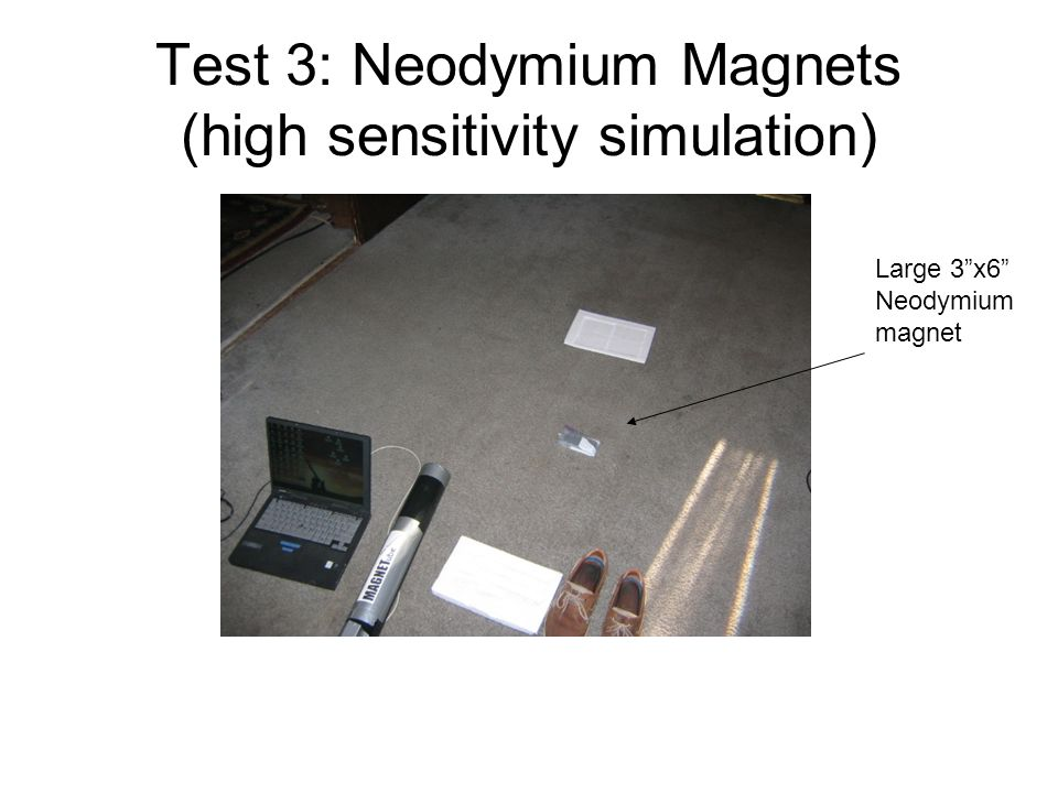 Test 3: Neodymium Magnets (high sensitivity simulation)