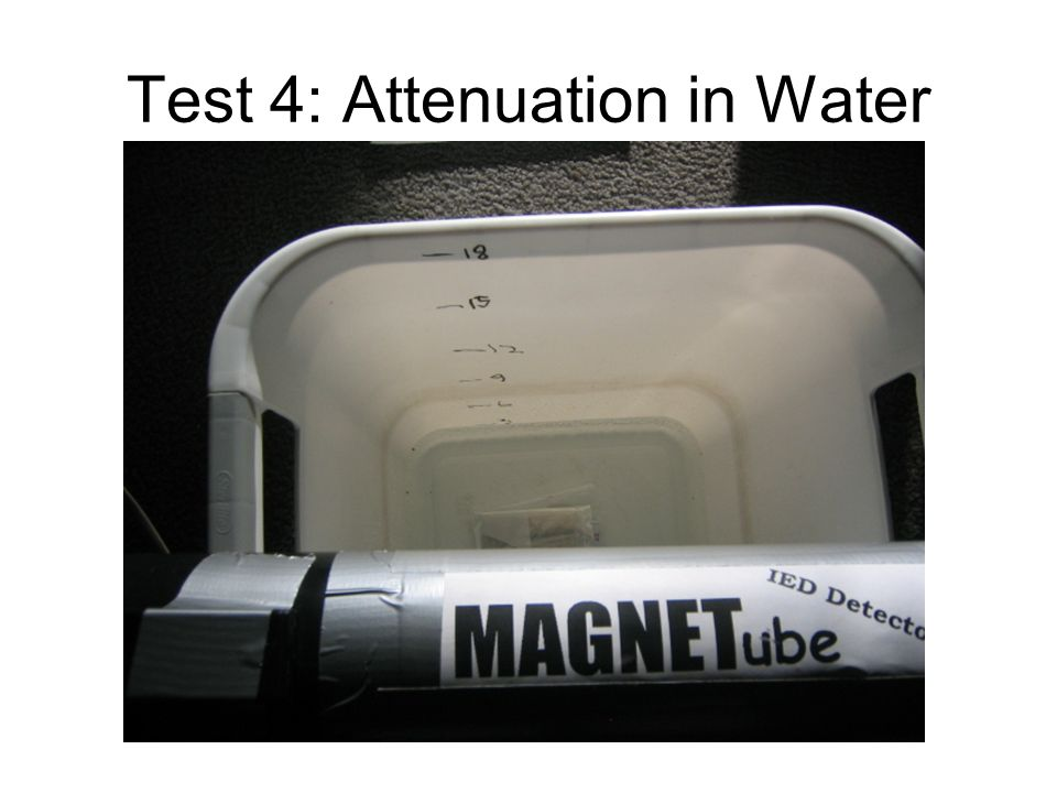 Test 4: Attenuation in Water
